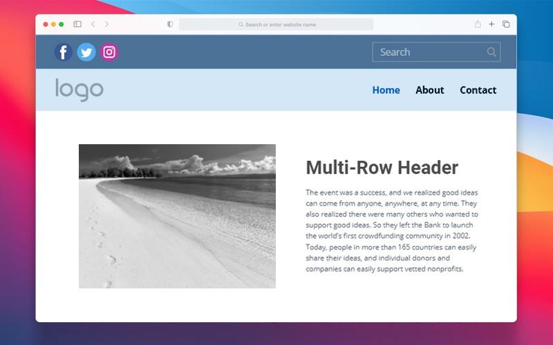 Multi-Row Header