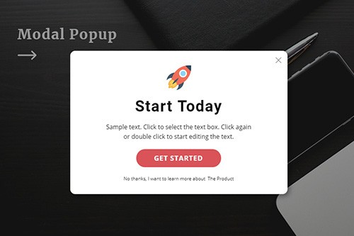 Modal Popup Website Element