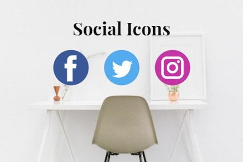 Social Icons Website Element