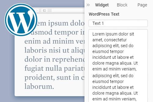 Text WordPress Widget