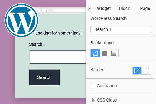 Search WordPress Widget