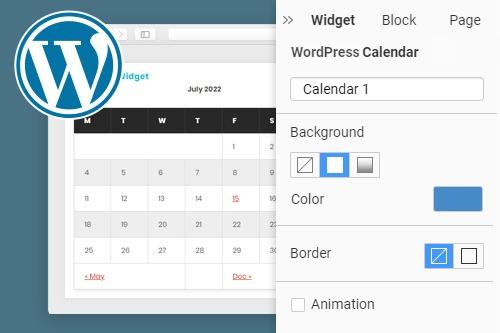 Calendar WordPress Widget