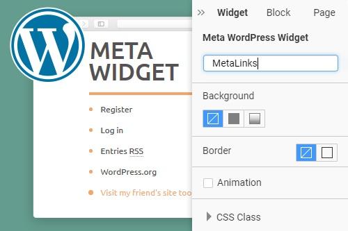 Meta WordPress Widget