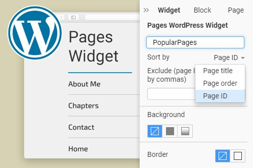 Pages WordPress Widget