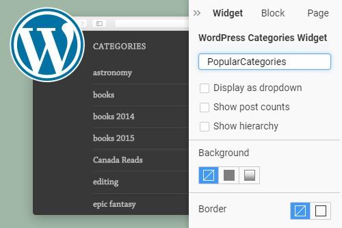 Categories WordPress Widget