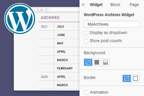 Archives WordPress Widget