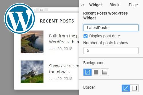 Recent Posts WordPress Widget