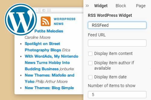 RSS WordPress Widget