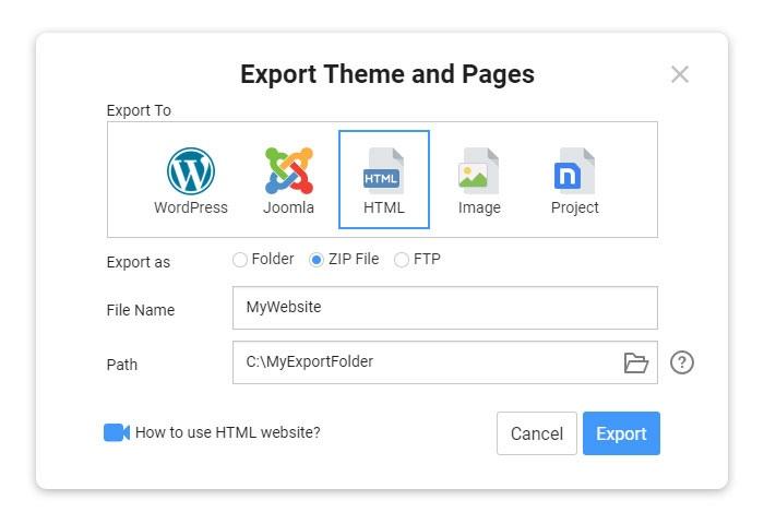 Use Website Generator For HTML, WordPress, And Joomla